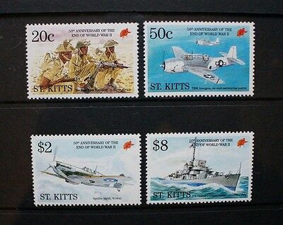 ST KITTS 1995 Second World War Aircraft. Set of 4. Mint Never Hinged. SG435/438.