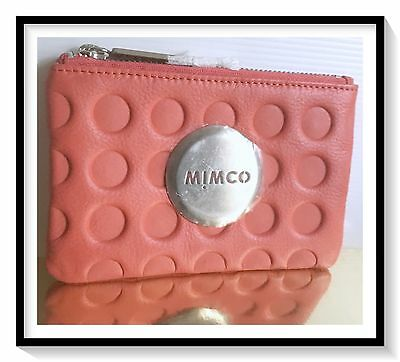 Mimco SMALL MIM Pouch Coin Purse Brand New  RRP $69 RED