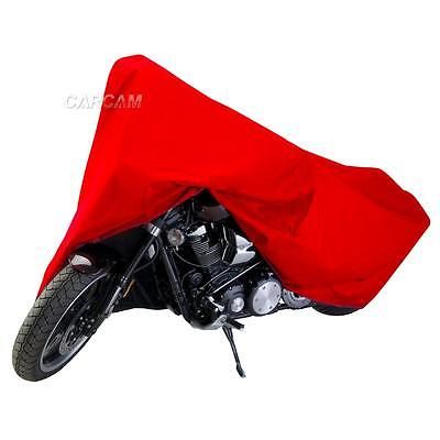 Red Motorcycle Dust Cover For Yamaha V-Star XVS 250 650 950 1100 1300 Cruiser