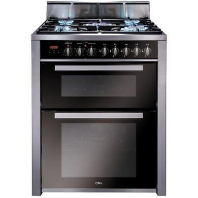 CDA RV701SS Double Oven 70cm Dual Fuel Range Cooker Stainless Steel RV701SS