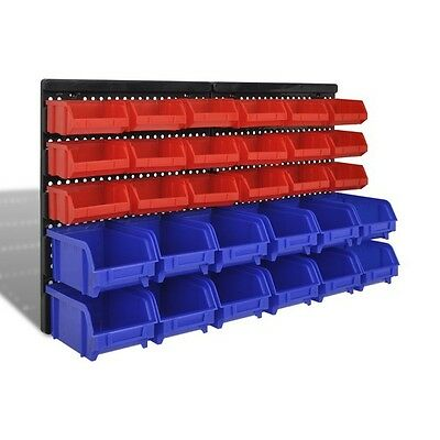 Storage Bins Wall Mounted Plastic For Garage Workshop Nuts And Bolts Stackable