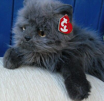 """Lovely Ty Classic Cat """"smokey"""" With Paper  Tag"""