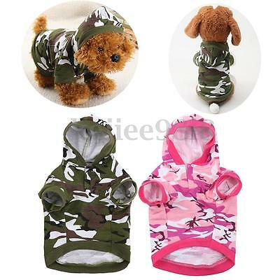 Small Cute Pet Dog Cat Puppy Winter Warm Sweater Hoodie Coat Costume Apparel UK