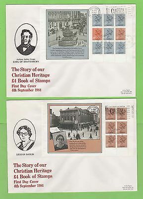 G.B. 1984 Christian Heritage booklet pane set on First Day Covers (4), Salisbury
