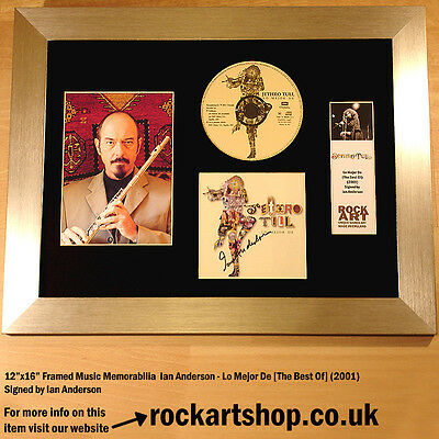 Jethro Tull CD SIGNED BY IAN ANDERSON Autographed Framed Memorabilia WORLD SHIP