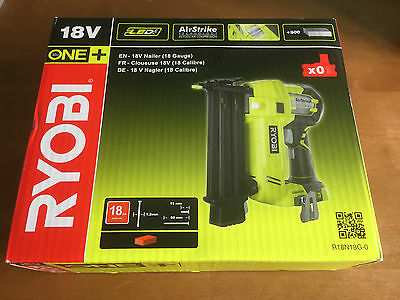Ryobi R18N18G-0 One+ 18V Airstrike Nailer 18 Gauge - Body Only - New & Boxed