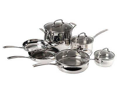 Cuisinart 84-10W 10 Pc. PROFILE Stainless Cookware Set