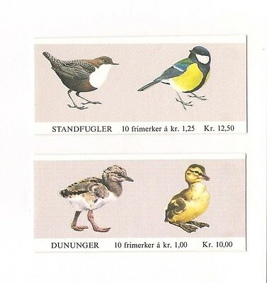 Norway 1980 Birds Stamp Booklets V. Fine MNH Stamps Classic Stamps