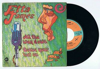 "ETTA JAMES 45giri 7""-ALL THE WAY DOWN/LEAVE YOUR HAT ON-CHESS CH501 ITALY EX/EX-"