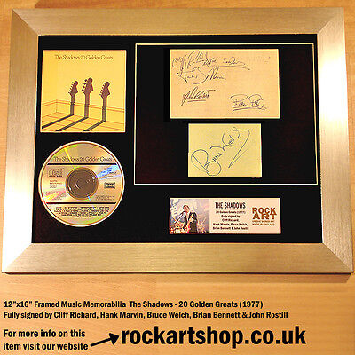 The Shadows *FULLY SIGNED CLIFF RICHARD+HANK MARVN+BRUCE+BRIAN+JOHN Autographed