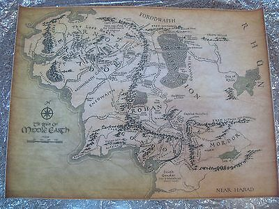 Canvas Middle Earth Map Tressure Map The Hobbit Lord of the Rings