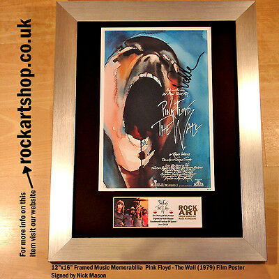 PINK FLOYD The Wall Film Poster SIGNED BY NICK MASON Autographed *WORLD SHIP