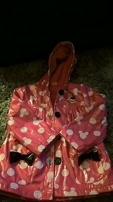 girls minnie mouse raincoat 3-4