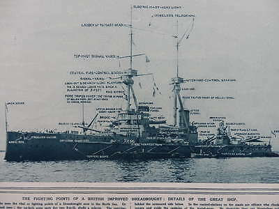 1914 Fighting Details Of British Improved Dreadnought Wwi Ww1