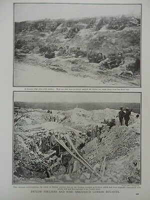 1916 Battle Of The Somme British Shelters & German Dugouts  Wwi Ww1