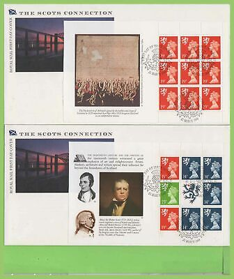 G.B. 1989 Scots booklet pane set Royal Mail u/a First Day Covers (4) Inverness