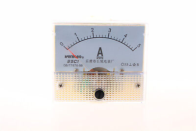 New Analog AMP Panel Meter Gauge DC 0~5A 85C1-A