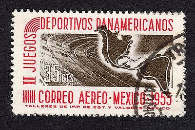1955 Mexico 35c Stadium and Map SG 929 FINE USED R19832