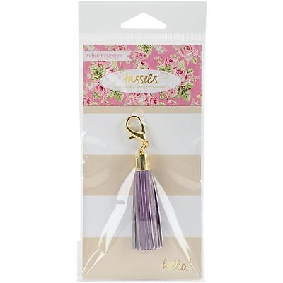 Webster's Pages Color Crush Purple Tassel Charm CH146PUR