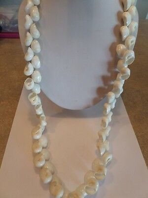 Vintage White Sea Shell Flapper Style Necklace