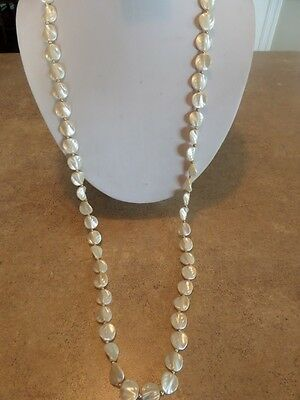 Vintage Flapper Style Faux Pearl Leaf Necklace