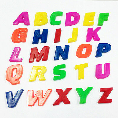 26x Magnetic Letters Childrens Kids Alphabet Magnets In Upper Case Pre-education