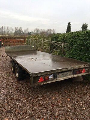 Ifor Williams Twin Wheel 13 Foot Flatbed Trailer **braked + Suspension**
