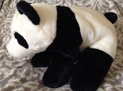 """Large 17"""" Long Panda Bear Plush By Keel Toys Heavy Beanie Paws Super Soft Toy"""