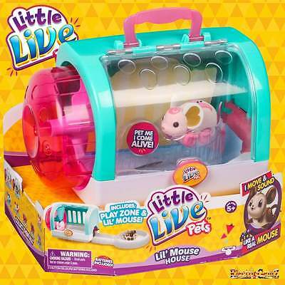 Little Live Pets L'il Mouse House with Angel Dancer Pink Mouse