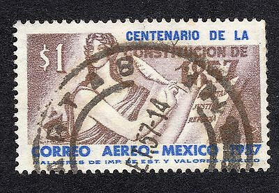 1957 Mexico $1 Centenary of 1857 Constitution SG 961 FINE USED R20174