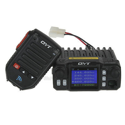QYT KT-7900D Quad Band Quad-Standby VHF UHF Mobile Radio+Wired Mic+Wireless Mic