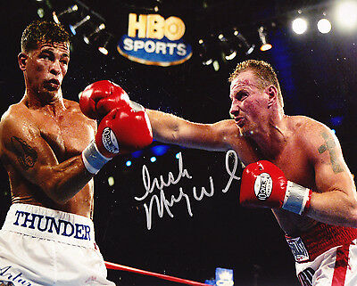 Irish Micky Ward Signed Autograph Photo Boxing With Gatti 8X10 Coa Hbo Sports