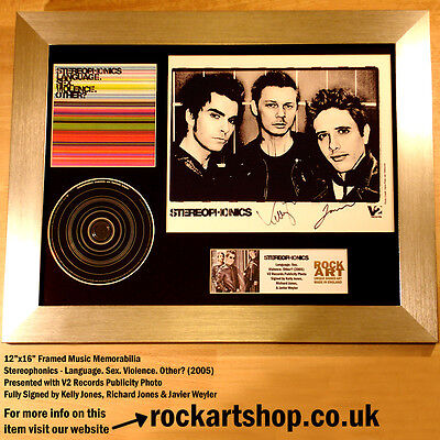 STEREOPHONICS Language... *FULLY SIGNED BY 3* Autographed Kelly Jones WORLD SHIP