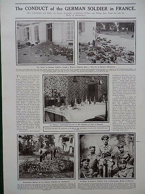 1914 Conduct Of German Soldier In France Ww1 Wwi