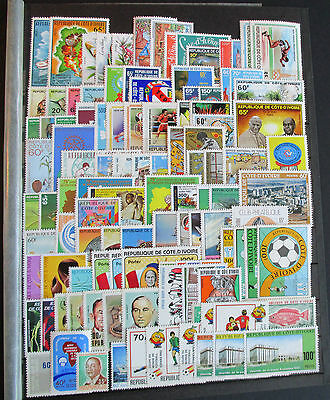 Ivory Coast - Fine Mnh Collection Of Sets And Mini Sheets On 13 Large Stockcards