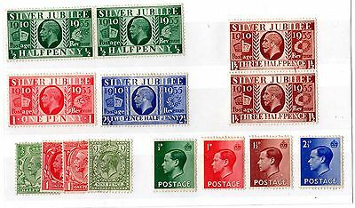 GB KGV/KEVIII Mint Collection of 14 Mint X4712