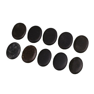 Natural Energy Massage Basalt Rocks Personal Therapy Hot Stone Pain Relief Black