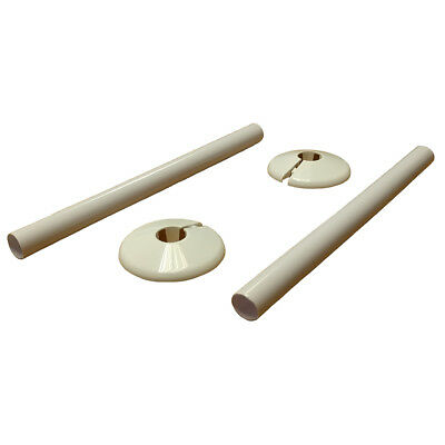 15mm NEW RADSNAPS Plastic Radiator Pipe Protection Covers & Collars White x 2