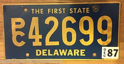 Vintage Retired Delaware License Plate PC 42699 The First State