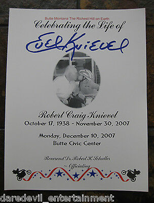 EVEL KNIEVEL FUNERAL PROGRAM  from December 10, 2007-OWN A PIECE OF HISTORY!