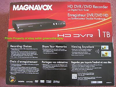 Magnavox 1TB MDR867H/F7 HDD DVR DVD Recorder HD Digital Tuners replaces MDR557H