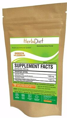 Quercetin with Bromelain Extract Powder Immune Health Antioxidant Cardio Support
