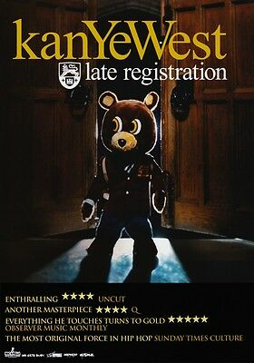 KANYE WEST Late Registration PHOTO Print POSTER Yeezy Boost 350 Yeezus Jay Z 013