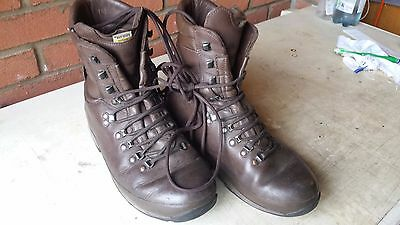 Altberg Defender Military Boots Brown Size 10