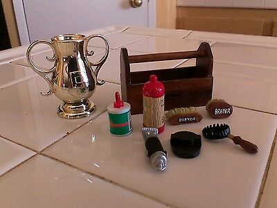 Breyer's Horses GROOMING KIT ACCESSORIES  & GOLD TROPHY LOT
