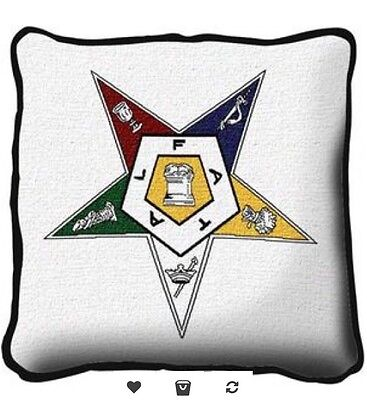 Order Of The Eastern Star OES Afghan Pillow New
