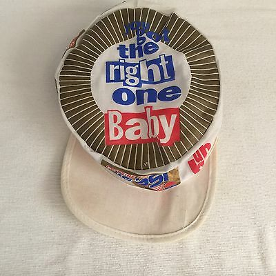 """Caffeine Free Diet Pepsi Painter's Hat """"you got the right one Baby uh huh!"""" 1992"""