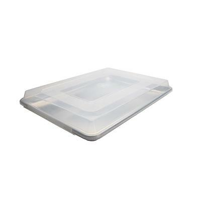 """Libertyware 18"""" x 13"""" Half Size Plastic Pan Cover  for Jelly Roll Sheet Baking"""