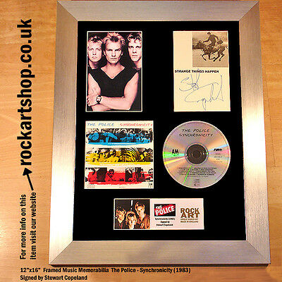 THE POLICE Synchronicity SIGNED BY STEWART COPELAND Autographed Framed *WORLD