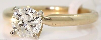 Gorgeous 14K Yellow Gold Solitaire Ring With 1.00 Ct Round Diamond! #i4
